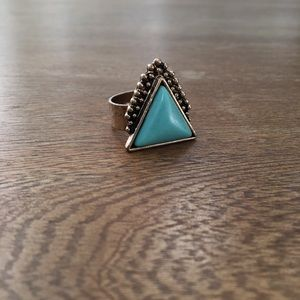 Boho Triangle Ring in Turquoise